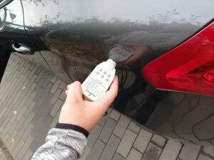 autó rétegvastagság mérés