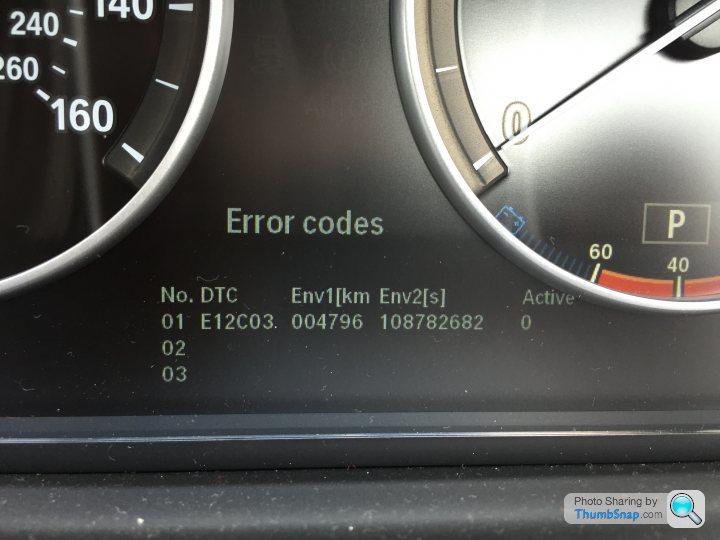 BMW hibakódok