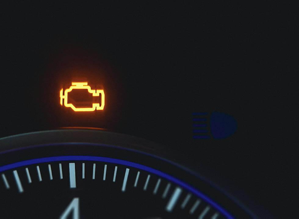 kigyullad a CHECK ENGINE lámpa